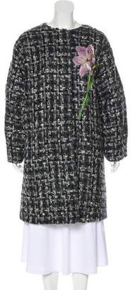 Dolce & Gabbana Tweed Button-Up Coat