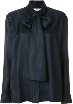 Stella McCartney striped pussy-bow blouse