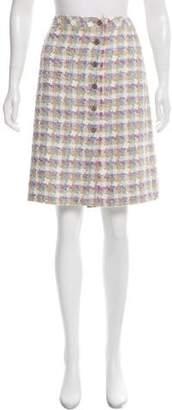 Chanel Pleated Bouclé Skirt