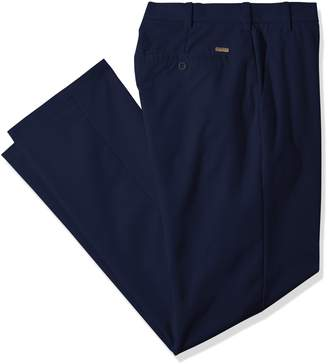 Izod Men's Big and Tall Performance Stretch Flat Front Pant