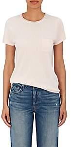 Barneys New York Women's Silk-Cashmere Short-Sleeve Sweater - Light Pink