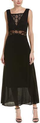 Maje Lace-Paneled Maxi Dress