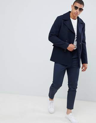 Selected recycled wool peacoat