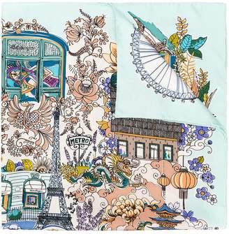 Salvatore Ferragamo Boutiques print foulard