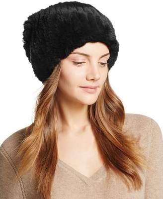 Surell Rabbit Fur Slouch Hat