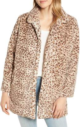 Wit & Wisdom Faux Leopard Fur Coat