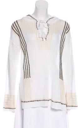 White + Warren Hooded Knit Top w/ Tags