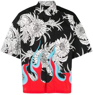 Prada short sleeve 'Dahlia Flower' shirt