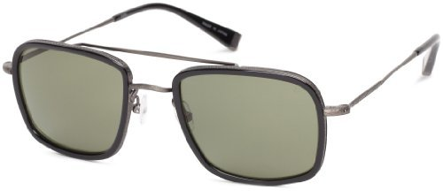 John Varvatos V789 V789BLA58 Square Sunglasses,Black,58 mm