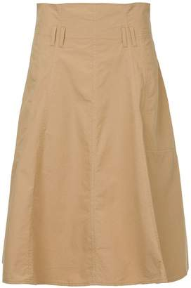 Closed A-line midi skirt