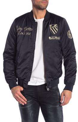 Scotch & Soda Embroidered Insulated Bomber Jacket