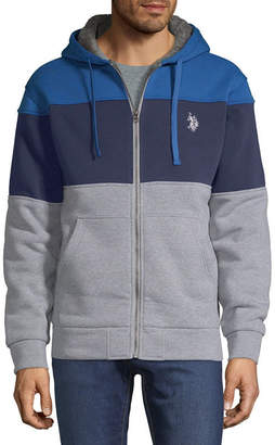 U.S. Polo Assn. USPA Long Sleeve Fleece Stripe Hoodie