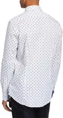Michael Kors Men's Trim-Fit Stretch Print Sport Shirt