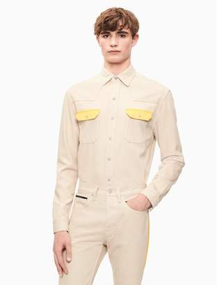 Calvin Klein western contrast shirt
