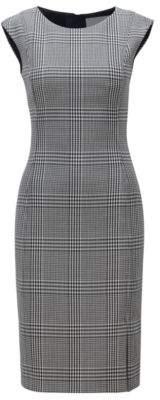 BOSS Hugo Slim-fit dress in stretch fabric Glen check pattern 6 Patterned