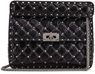 Valentino Rockstud Spike Medium Shoulder Bag in Nero | FWRD