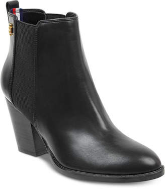 Tommy Hilfiger Regise Block-Heel Ankle Booties Women's Shoes