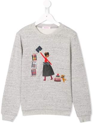 Familiar applique sweatshirt