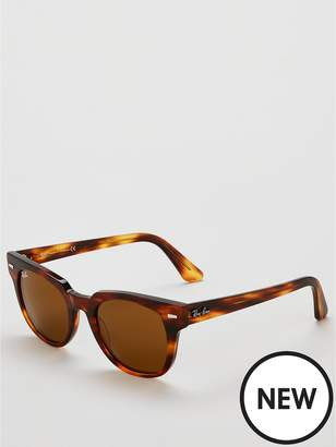 448796d5b84ff1 Ray-Ban Square Striped Havana Sunglasses - Brown