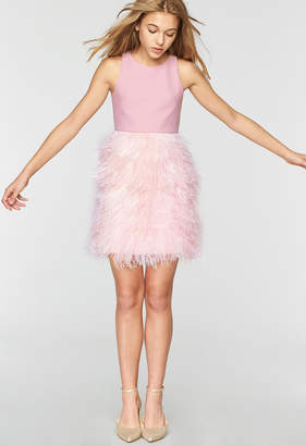 Milly MINIS TECH STRETCH BLAIRE FEATHER DRESS
