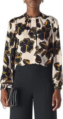 Whistles Tropical Leaf Silk Shirt