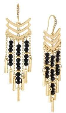 Laundry by Shelli Segal Beaded Chandelier Earrings
