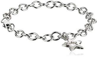 Sterling Silver Pre-Teen Diamond Star Charm Bracelet