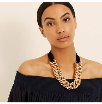 Amanda Wakeley Velvet Gold Chunky Chain Necklace