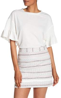 Laundry by Shelli Segal Shirred Elbow Sleeve Tee