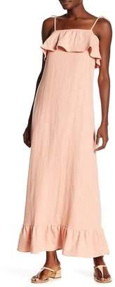 Lucca Couture Iris Strap Ruffle Maxi Dress