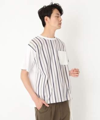 niko and (ニコ アンド) - 異素材切り替えプルオーバーTシャツ