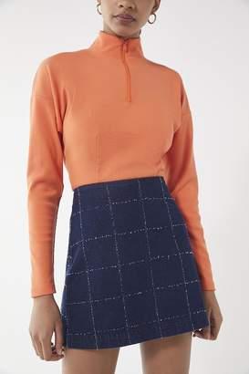 Urban Outfitters Lindsey Half-Zip Turtleneck Top