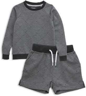 Sovereign Code Boys' Basketweave Print Sweatshirt & Sweatshorts Set