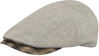 Men's Country Gentleman Roman Flat Ivy Cap with Plaid Brim