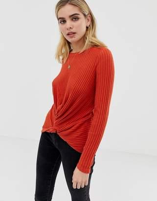 New Look twist front top in orange