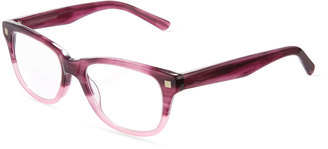 A.J. Morgan Now Two-Tone Rectangular Acetate Readers, Purple $45 thestylecure.com