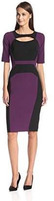 Society New York Women's Colorblock Sheath Dress