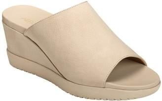 Aerosoles Slip-On Wedge Sandals - Blonde