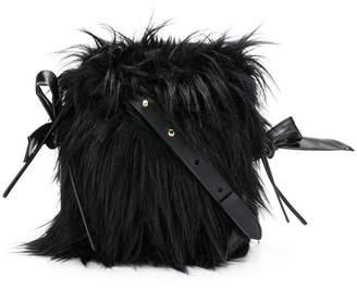 Simone Rocha faux fur bucket bag