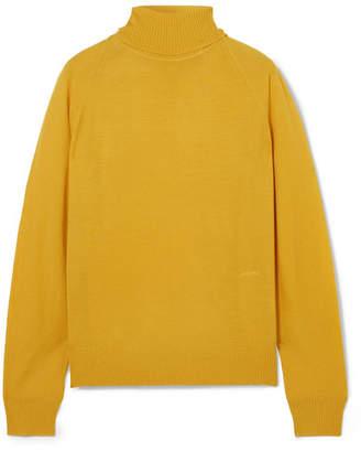 Joseph Merino Wool Turtleneck Sweater - Yellow