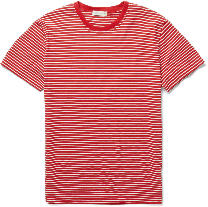 Oliver Spencer Striped Cotton T-Shirt