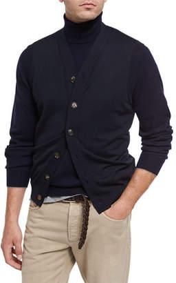 Brunello Cucinelli Fine-Gauge Wool-Cashmere Cardigan Vest $945 thestylecure.com