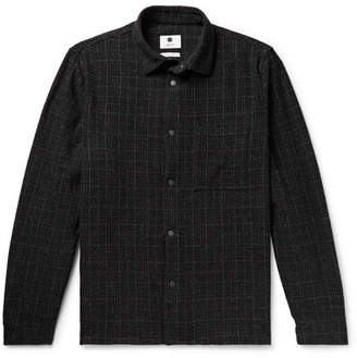 NN07 Basso Checked Wool-Blend Overshirt