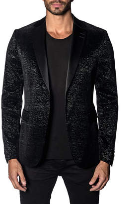 Jared Lang Men's Custom Graphic Single-Button Jacket