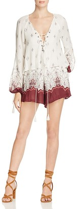 The Jetset Diaries Enija Lace-Up Romper $179 thestylecure.com
