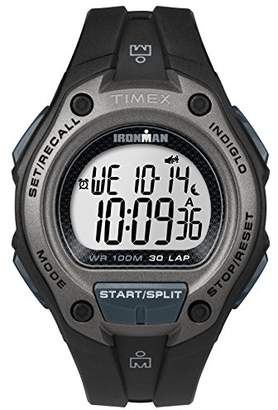 Timex Men's TW5M13900 Ironman Classic 30 Oversized Black Resin Strap Watch