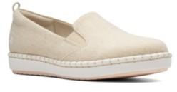 Clarks Women's Cloudsteppers Step Glow Slip Canvas Flats Women's Shoes