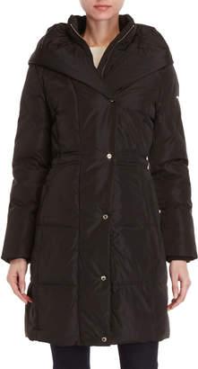Karl Lagerfeld Shawl Collar Longline Puffer Coat