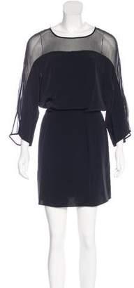 Elizabeth and James Silk-Paneled Mini Dress
