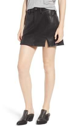 Current/Elliott The Leather Miniskirt